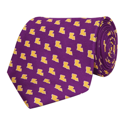 LA Gameday Purple Tie